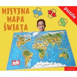 Misyjna mapa świata. Puzzle