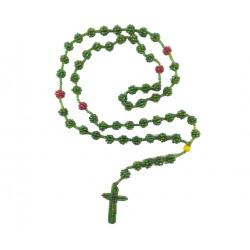 RÓŻANIEC Z KORALIKÓW [zielony]