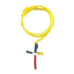 Krzyżyk misyjny z żółtym...