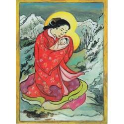 Karnet bożonarodzeniowy Azja