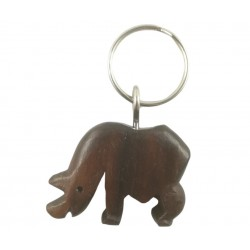 Brelok hipopotam z drewna