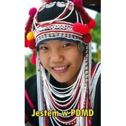 Naklejka: Jestem w PDMD. Azja