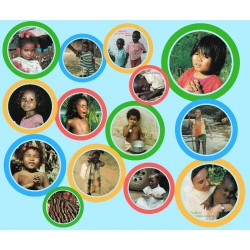Komplet 14 misyjnych pocztówek