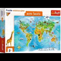 Puzzle edukacyjne. Mapa...